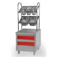 Прилавок для столовых приборов, хлеба и подносов МЛОЭ/ПСХ