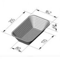 Хлебная форма для расстойки 255х160х65