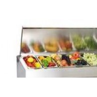 Настольная холодильная витрина Polair VT2-G с крышкой