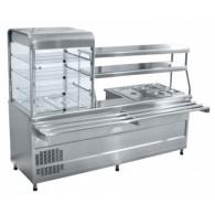 Прилавок-витрина холодильный мармитный универсальный Abat ПВХМ-70КМУ