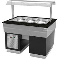 Прилавок охлаждаемый Gastrolux ПО-1310/3GN/SI